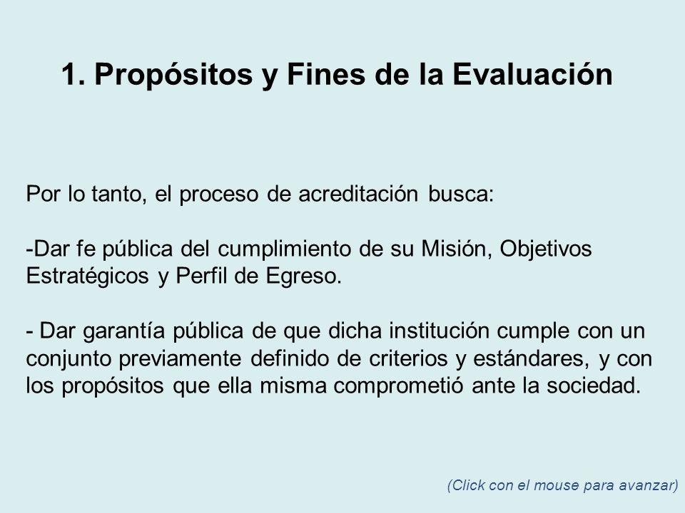 Para alcanzar el propósito de la evaluación, es necesario fijar criterios que conformen al fin que se busca.