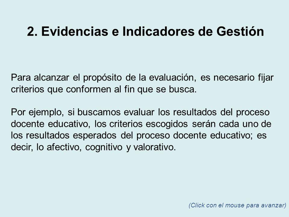 Para alcanzar el propósito de la evaluación, es necesario fijar criterios que conformen al fin que se busca. Por ejemplo, si buscamos evaluar los resu