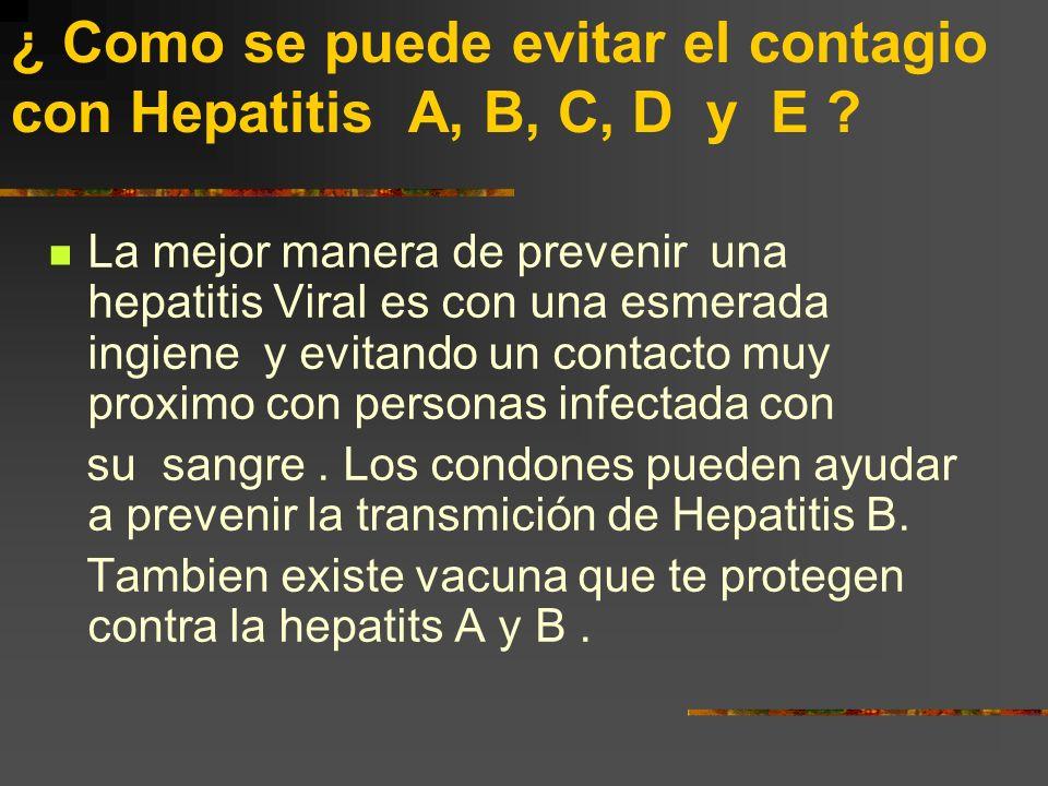 La Hepatitis causada por virus La hepatitis D solamente llega a manifestarse en personas que ya padecieron la hepatitis B. Quienes se infectan con hep