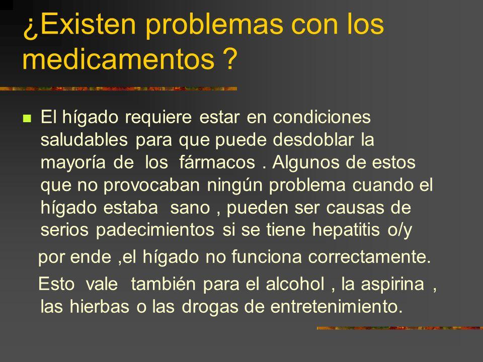 La Hepatitis causada por Alcohol,Drogas o algún Veneno. Lo mismo sucede con un analgésico tan común como el acetaminofen (Tylenol). Drogas tales como