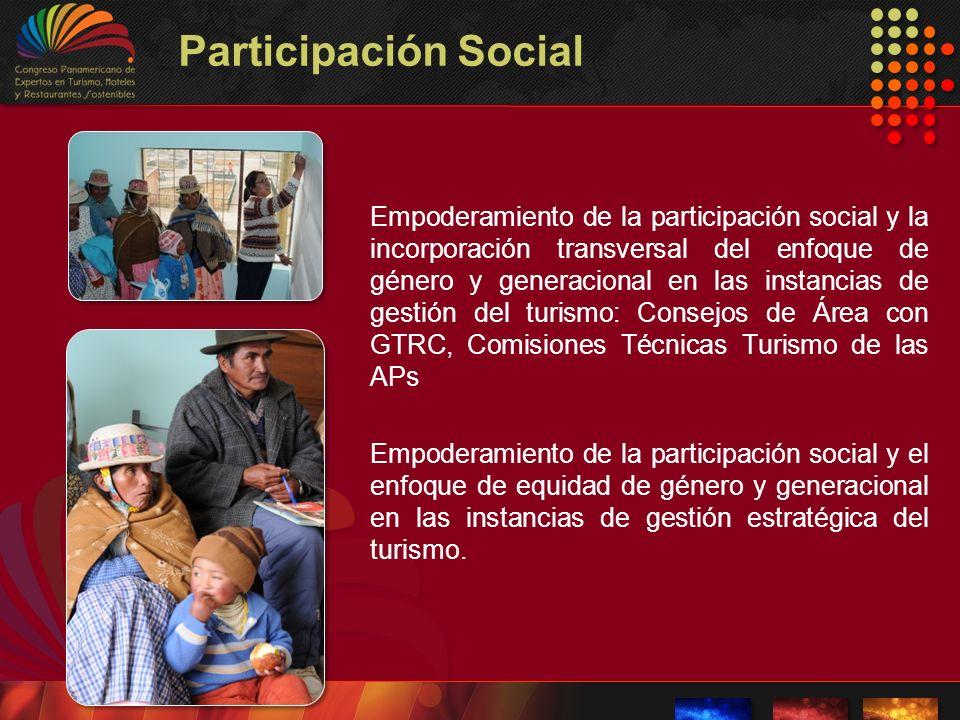 Participación Social Empoderamiento de la participación social y la incorporación transversal del enfoque de género y generacional en las instancias d