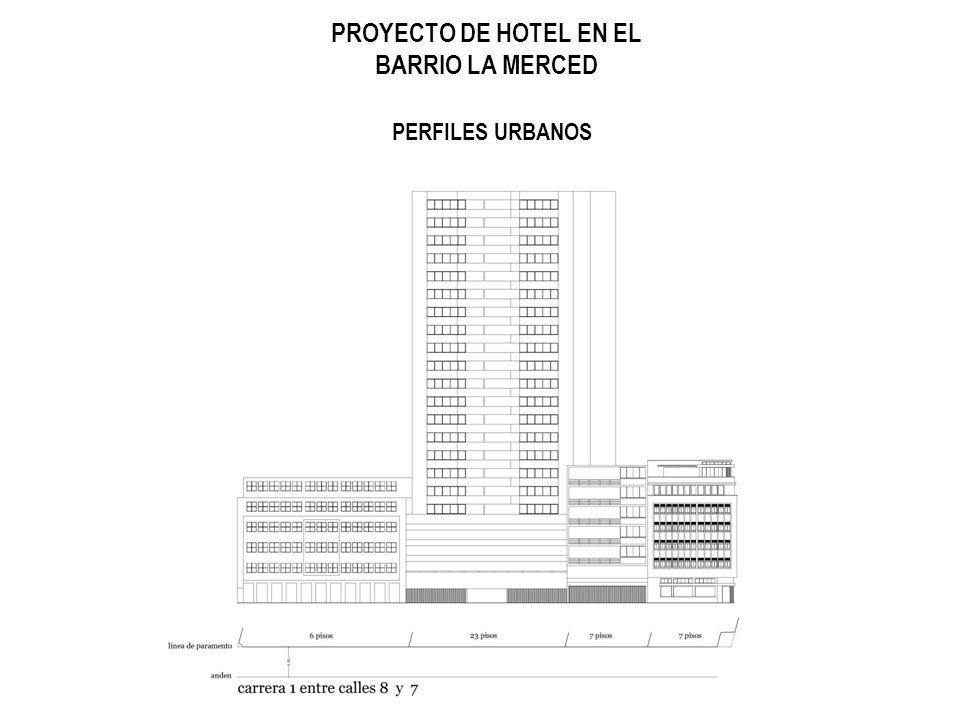 PROYECTO DE HOTEL EN EL BARRIO LA MERCED PERFILES URBANOS
