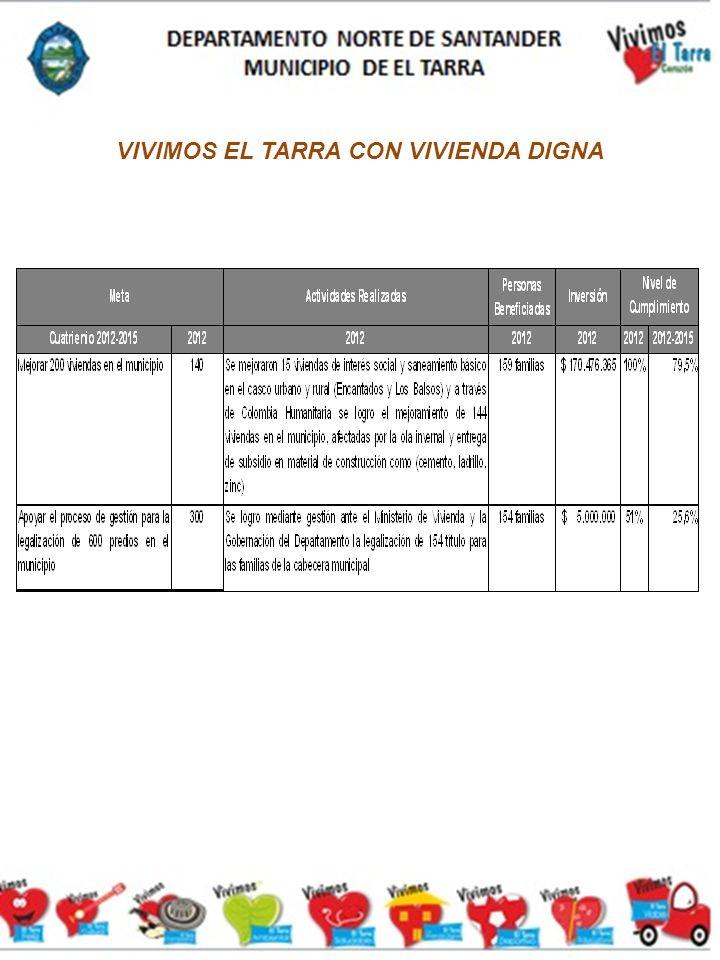 VIVIMOS EL TARRA CON VIVIENDA DIGNA