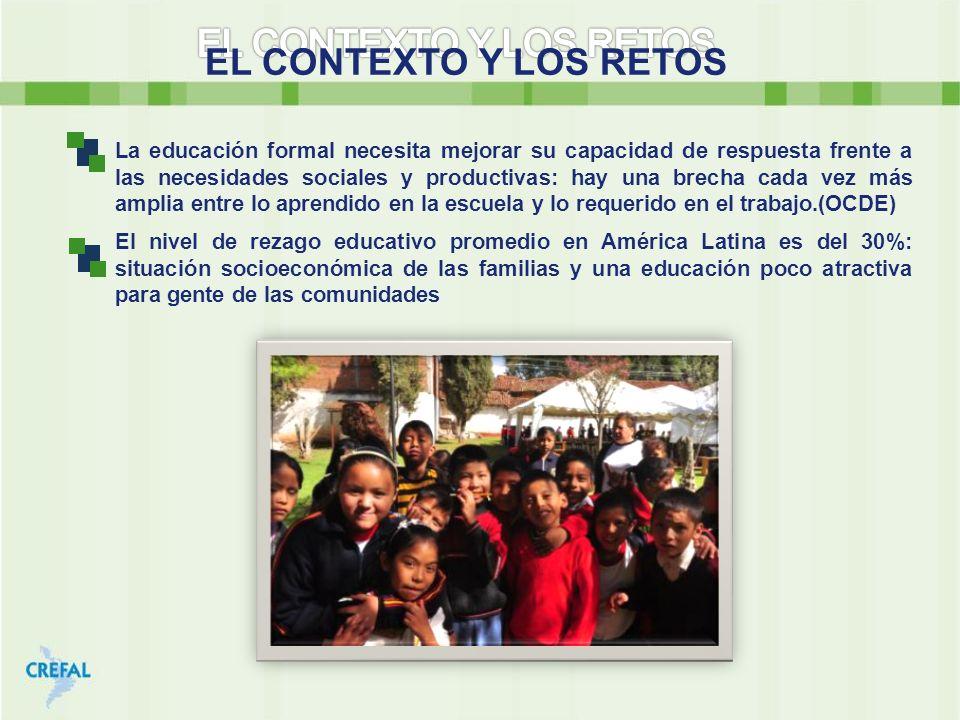 EL CONTEXTO Y LOS RETOS La educación formal necesita mejorar su capacidad de respuesta frente a las necesidades sociales y productivas: hay una brecha