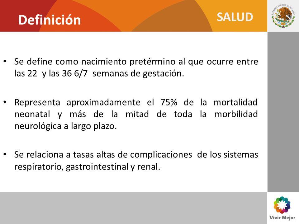 SALUD Casos de SIDA por transmisión perinatal, según año de diagnóstico 1996:Tx ARV gratuito a mujeres embarazadas infectadas 1997: Política Nacional de tratamiento gratuito Fuente: CENSIDA, con datos del Registro Nacional de Casos de SIDA al 31 de diciembre de 2009.
