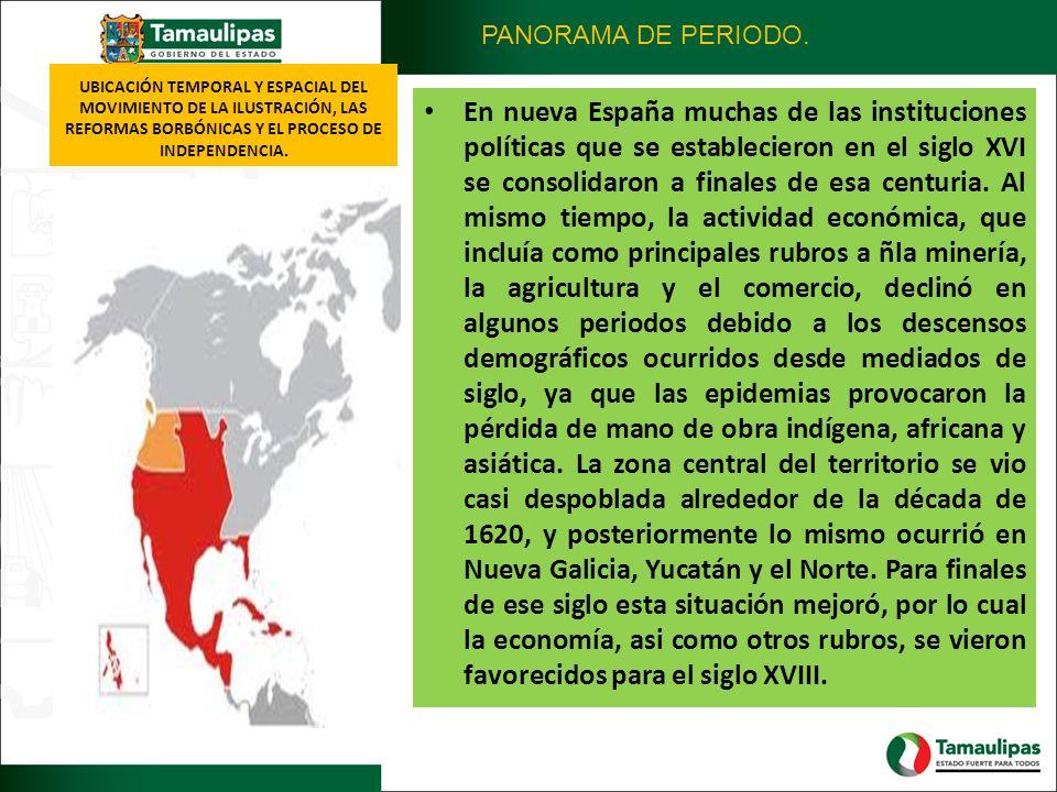 UBICACIÓN TEMPORAL Y ESPACIAL DEL MOVIMIENTO DE LA ILUSTRACIÓN, LAS REFORMAS BORBÓNICAS Y EL PROCESO DE INDEPENDENCIA. En nueva España muchas de las i