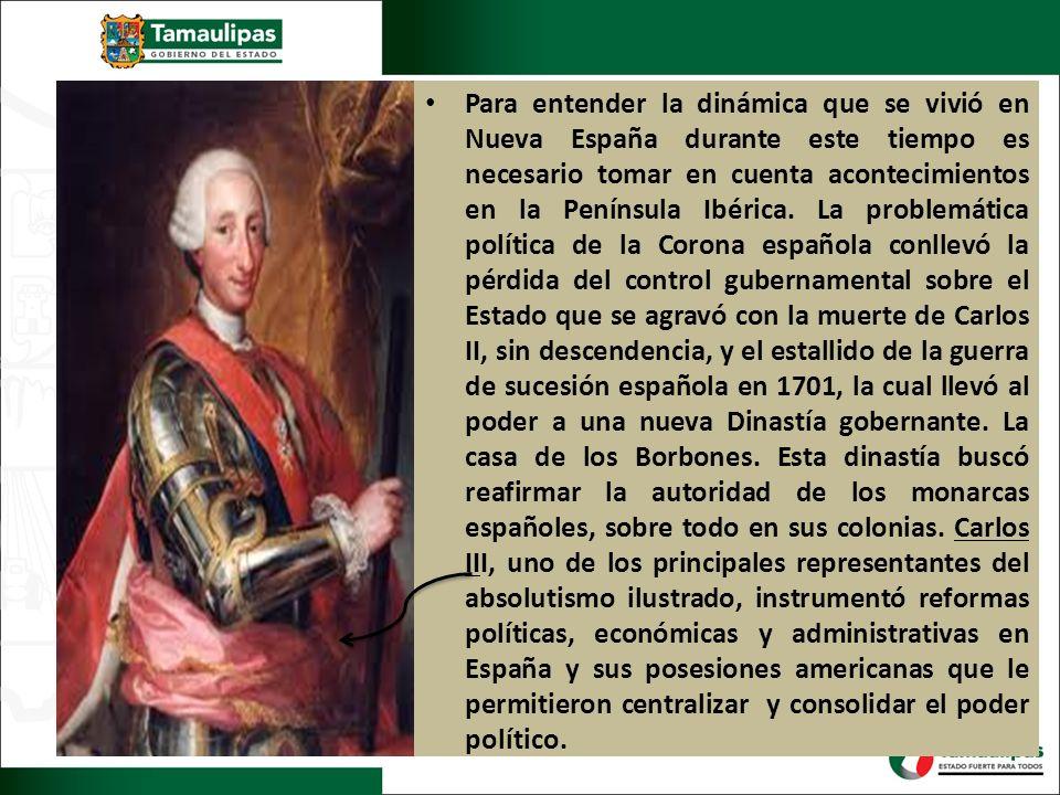 Para entender la dinámica que se vivió en Nueva España durante este tiempo es necesario tomar en cuenta acontecimientos en la Península Ibérica. La pr