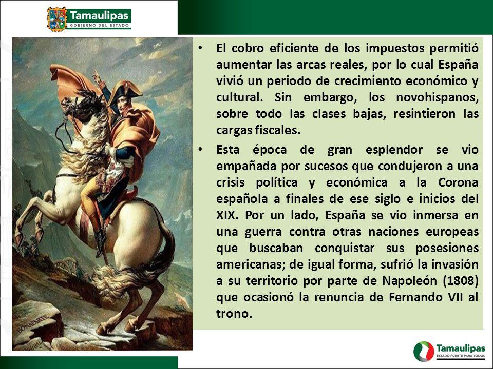 El cobro eficiente de los impuestos permitió aumentar las arcas reales, por lo cual España vivió un periodo de crecimiento económico y cultural. Sin e