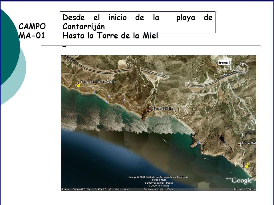 CAMPO MA-01 Desde el inicio de la playa de Cantarriján Hasta la Torre de la Miel