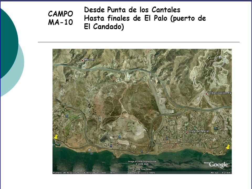 CAMPO MA-10 Desde Punta de los Cantales Hasta finales de El Palo (puerto de El Candado)