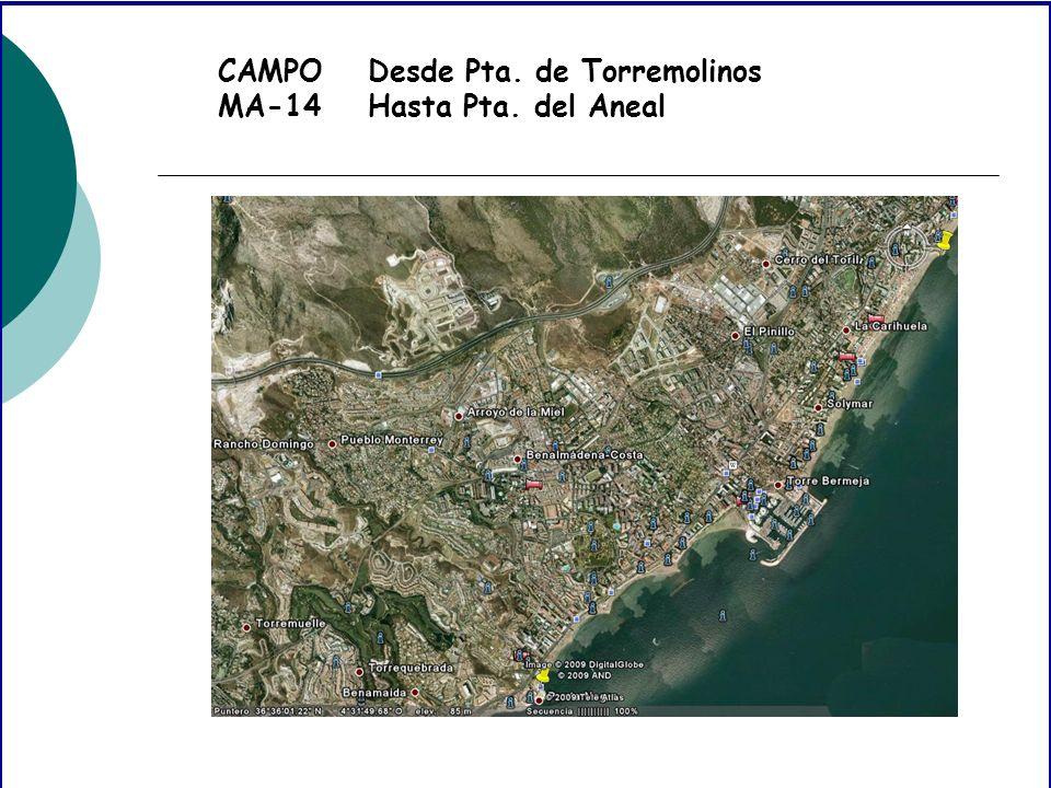 CAMPO MA-14 Desde Pta. de Torremolinos Hasta Pta. del Aneal