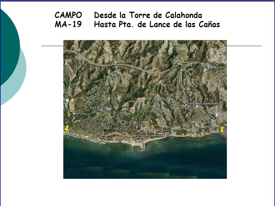 CAMPO MA-19 Desde la Torre de Calahonda Hasta Pta. de Lance de las Cañas