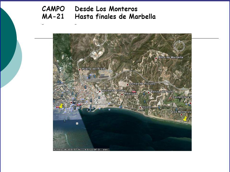 CAMPO MA-21 Desde Los Monteros Hasta finales de Marbella