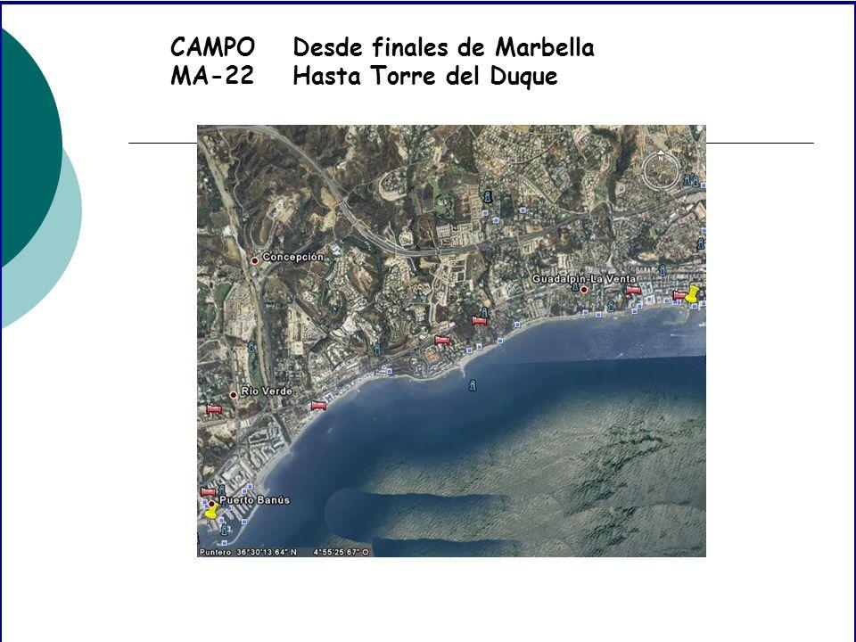 CAMPO MA-22 Desde finales de Marbella Hasta Torre del Duque