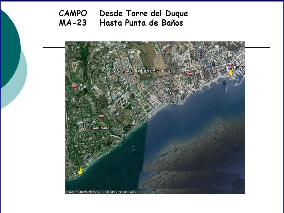 CAMPO MA-23 Desde Torre del Duque Hasta Punta de Baños