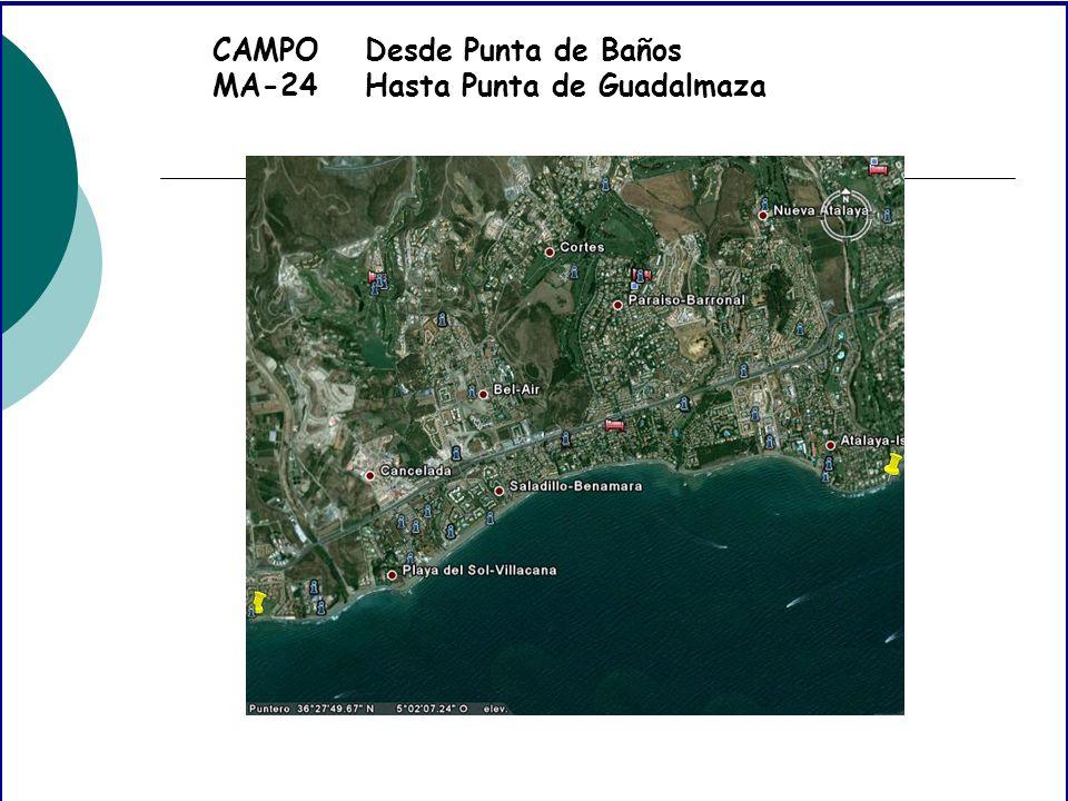 CAMPO MA-24 Desde Punta de Baños Hasta Punta de Guadalmaza