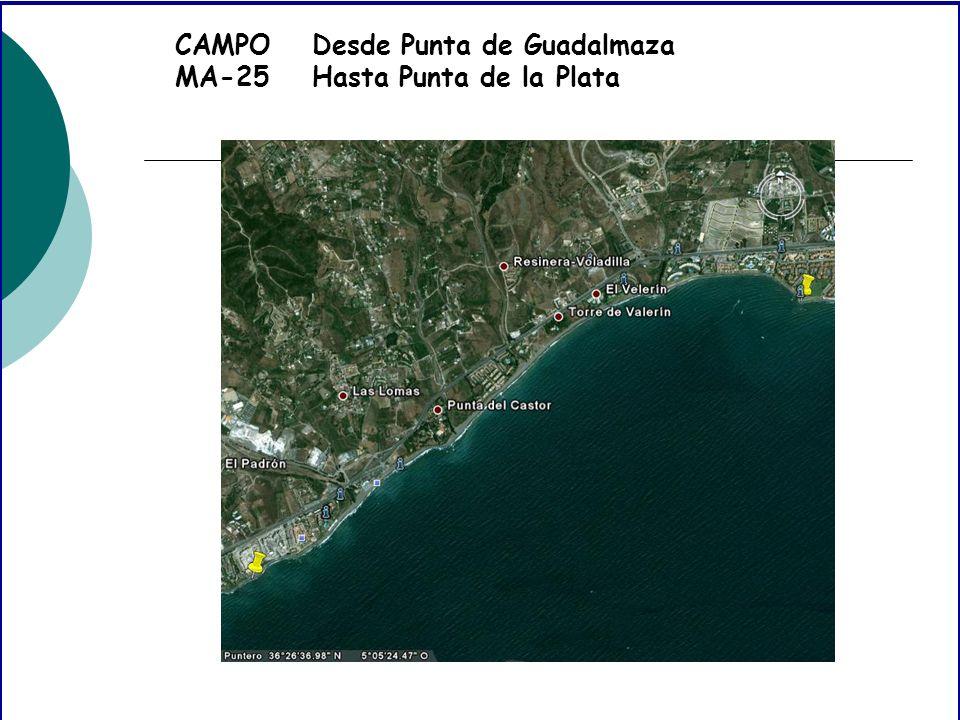 CAMPO MA-25 Desde Punta de Guadalmaza Hasta Punta de la Plata