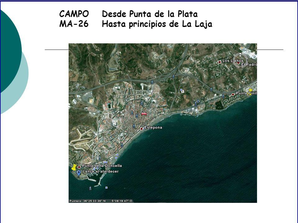 CAMPO MA-26 Desde Punta de la Plata Hasta principios de La Laja