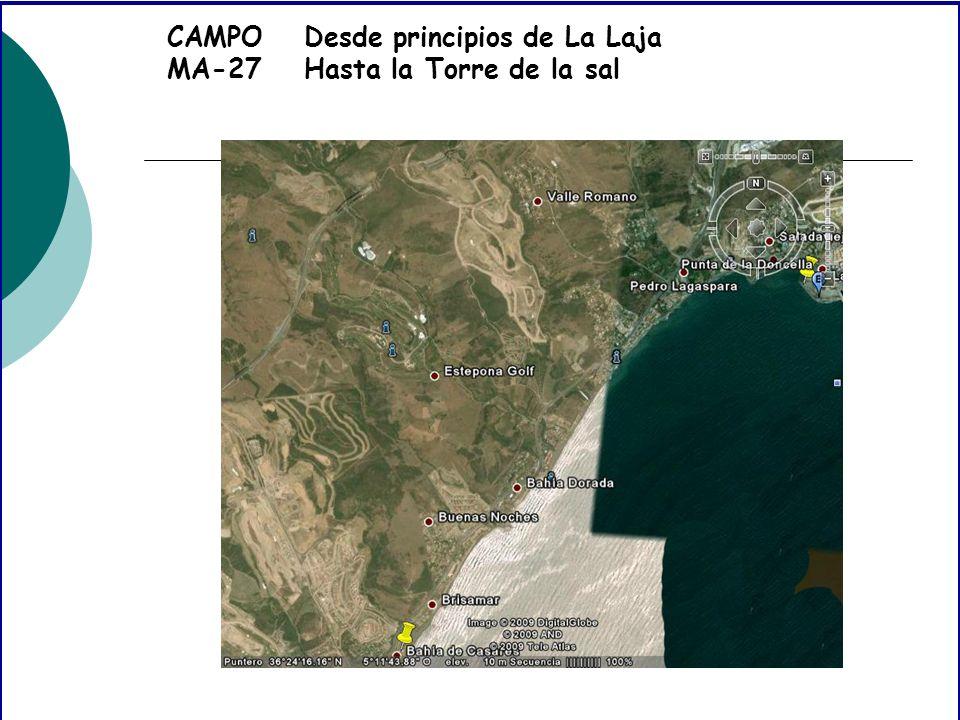 CAMPO MA-27 Desde principios de La Laja Hasta la Torre de la sal