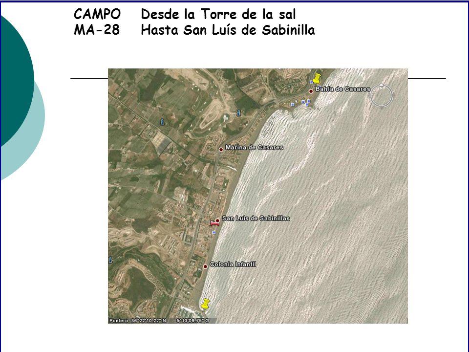 CAMPO MA-28 Desde la Torre de la sal Hasta San Luís de Sabinilla