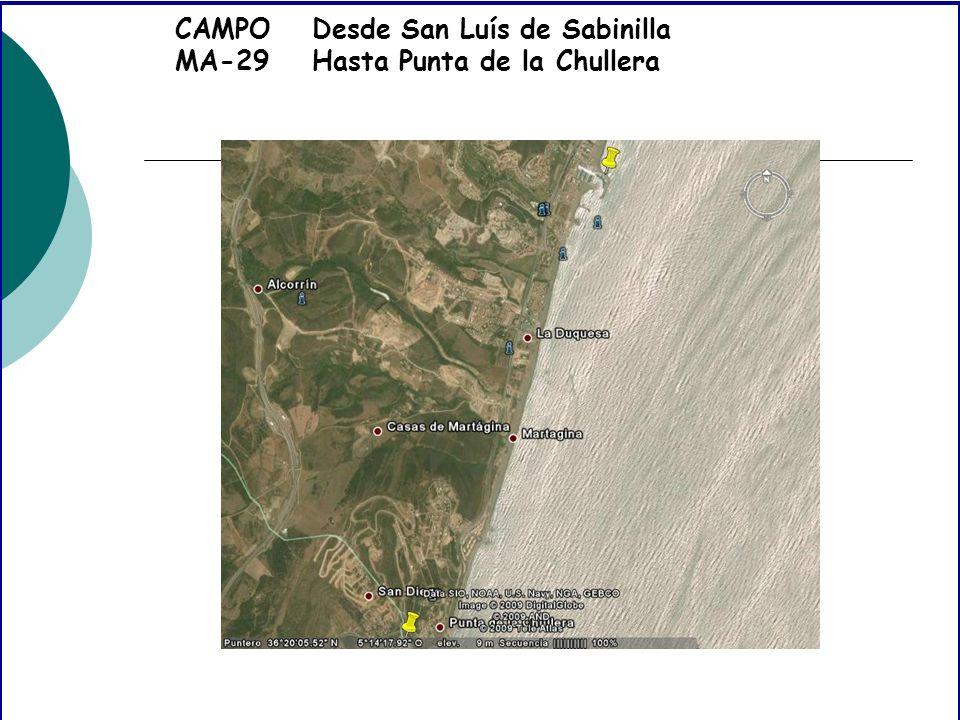 CAMPO MA-29 Desde San Luís de Sabinilla Hasta Punta de la Chullera