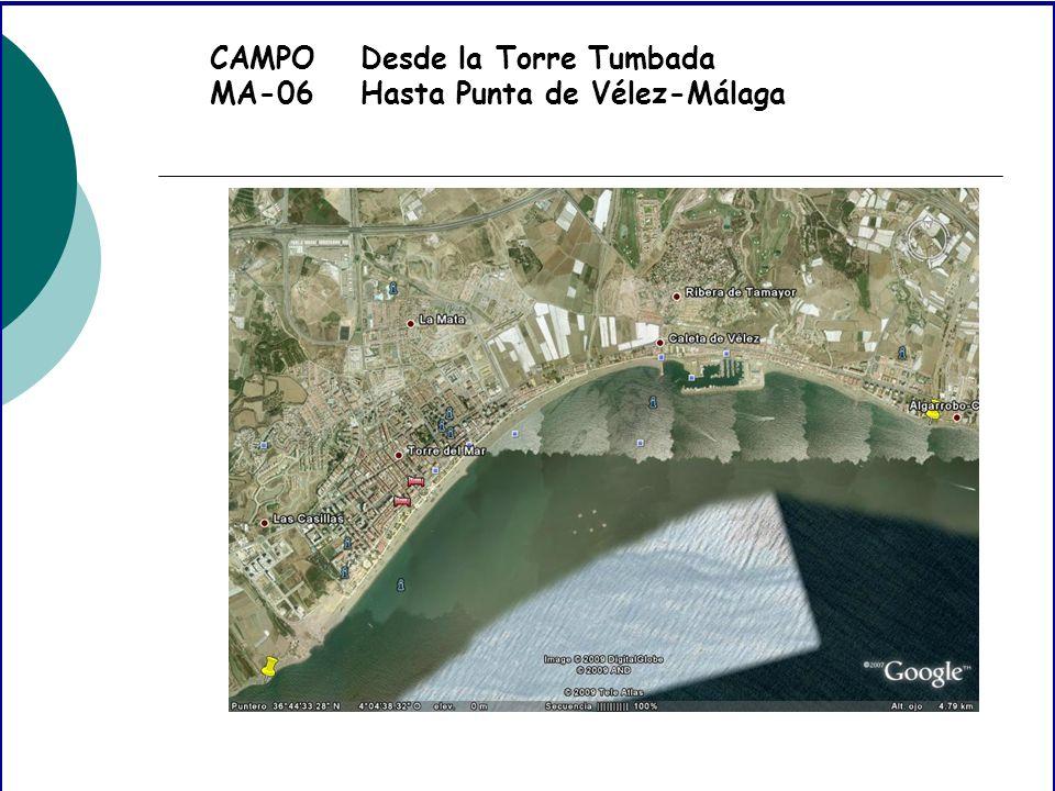 CAMPO MA-06 Desde la Torre Tumbada Hasta Punta de Vélez-Málaga
