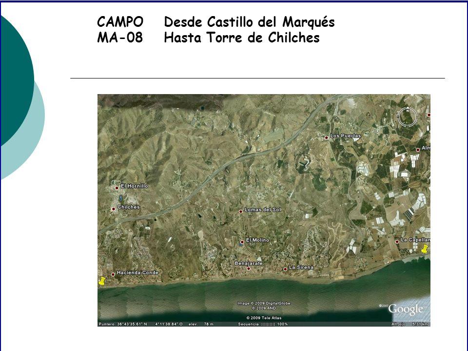 CAMPO MA-08 Desde Castillo del Marqués Hasta Torre de Chilches