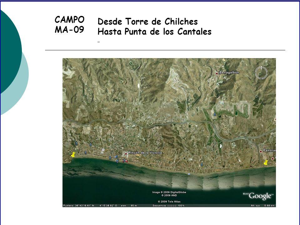 CAMPO MA-09 Desde Torre de Chilches Hasta Punta de los Cantales