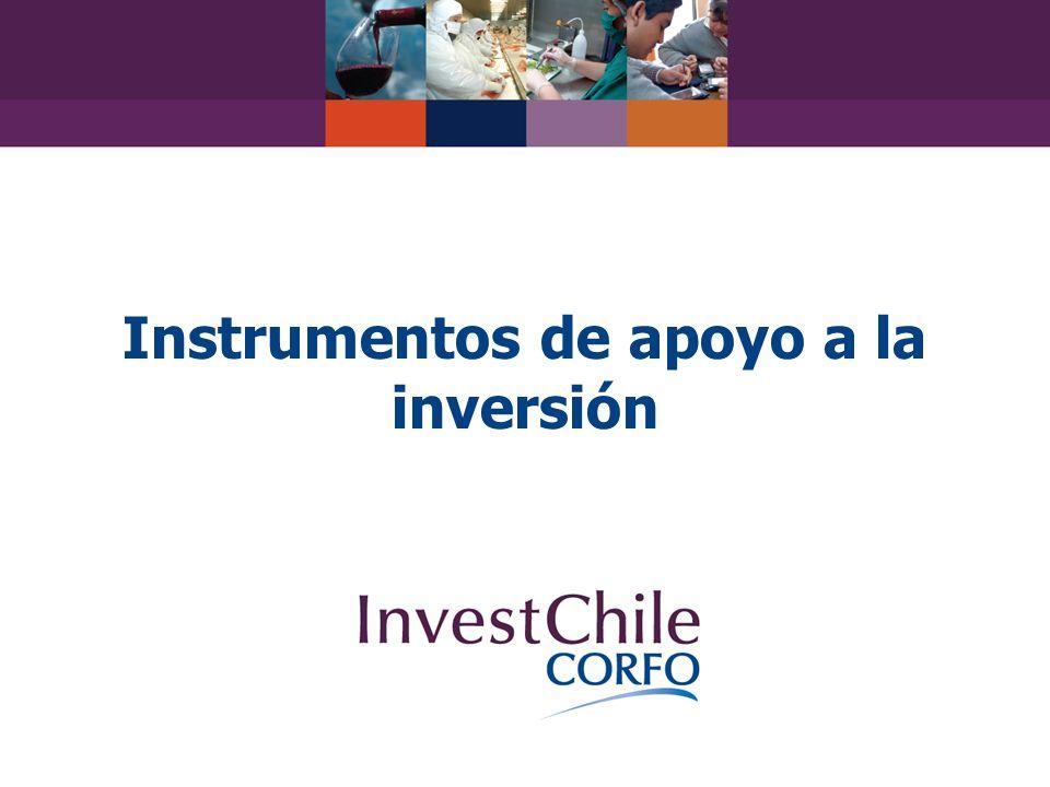 Instrumentos de apoyo a la inversión