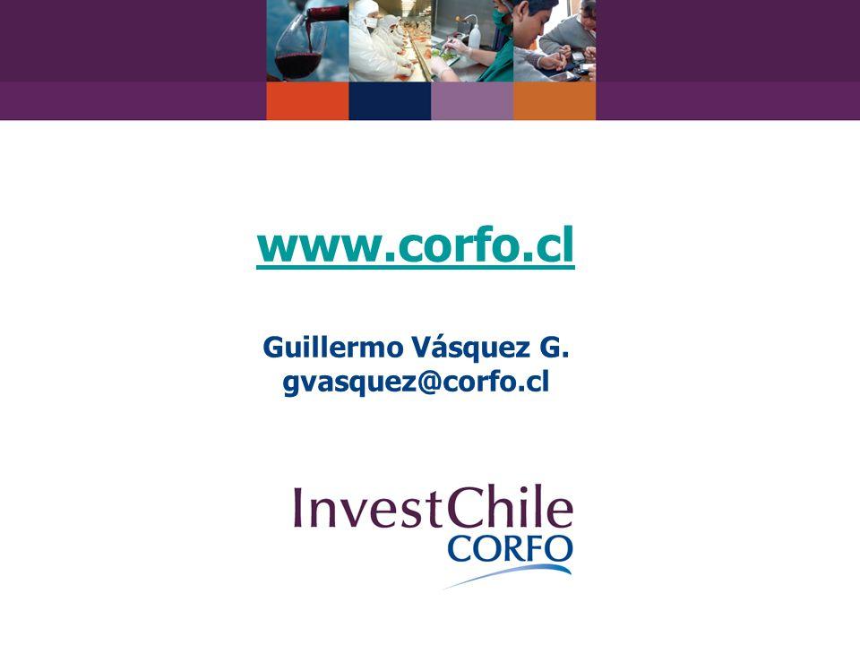 www.corfo.cl www.corfo.cl Guillermo Vásquez G. gvasquez@corfo.cl