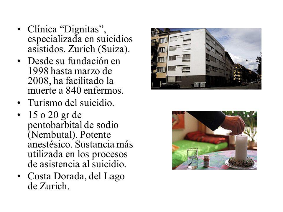 Clínica Dignitas, especializada en suicidios asistidos. Zurich (Suiza). Desde su fundación en 1998 hasta marzo de 2008, ha facilitado la muerte a 840