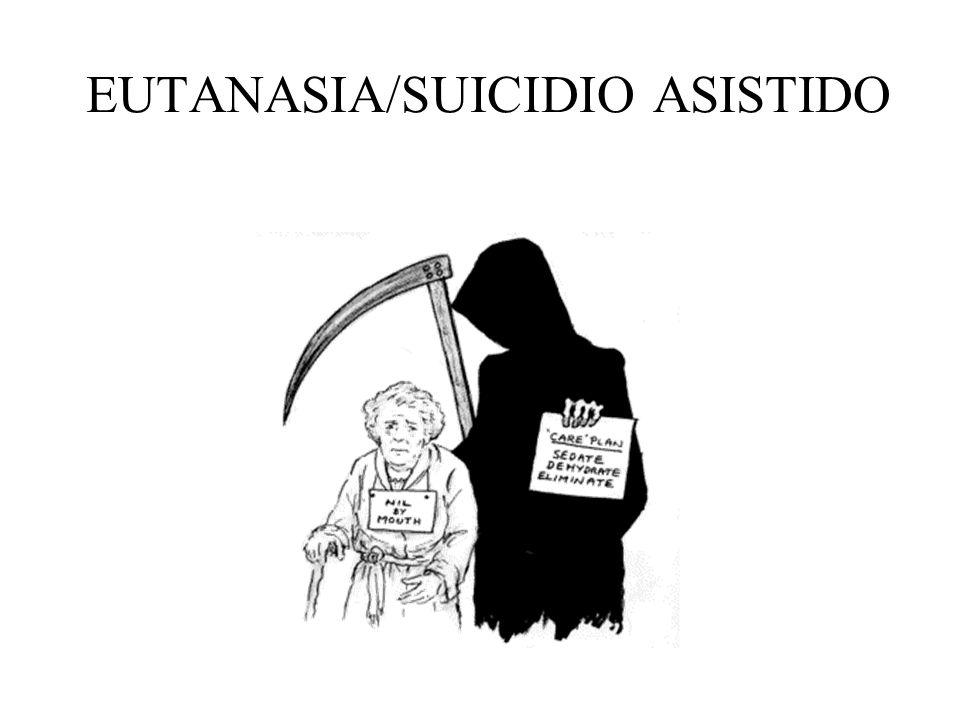 Diferencia entre «eutanasia» y «suicidio asistido»: En la eutanasia es el médico –u otro sanitario dirigido por él– quien provoca la muerte del enfermo.