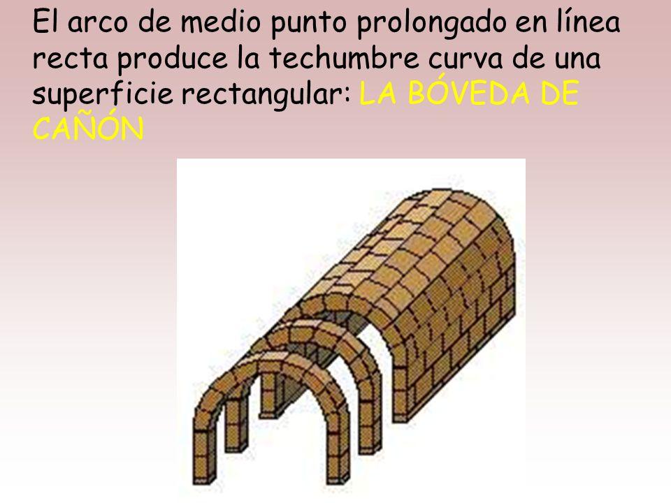 El sello inconfundible que expande la arquitectura romana es el ARCO DE MEDIO PUNTO, estructura curva realizada con pequeñas piezas, las dovelas, que