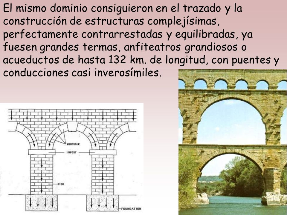 Con arcos, bóvedas y muros de calidad, los romanos consiguieron luces nunca vistas, posibilitando la existencia de enormes espacios cerrados con capac