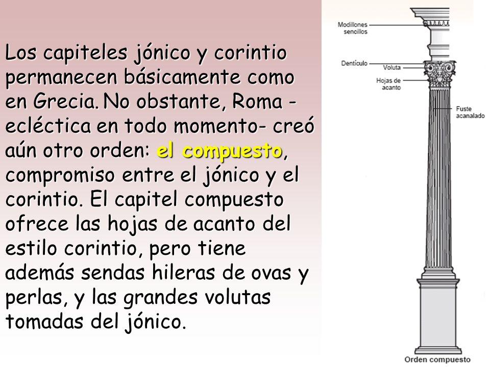Pedestal Aunque Roma tomó de Grecia los ÓRDENES ARQUITECTONICOS, aportó a ellos singulares novedades. Aunque Roma tomó de Grecia los ÓRDENES ARQUITECT