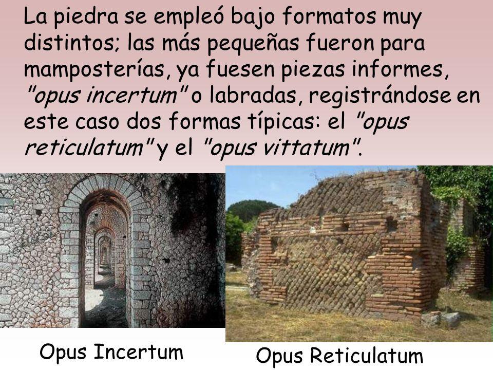 Los cuatro MATERIALES básicos empleados por los romanos fueron la piedra, la madera, la cal y la arcilla