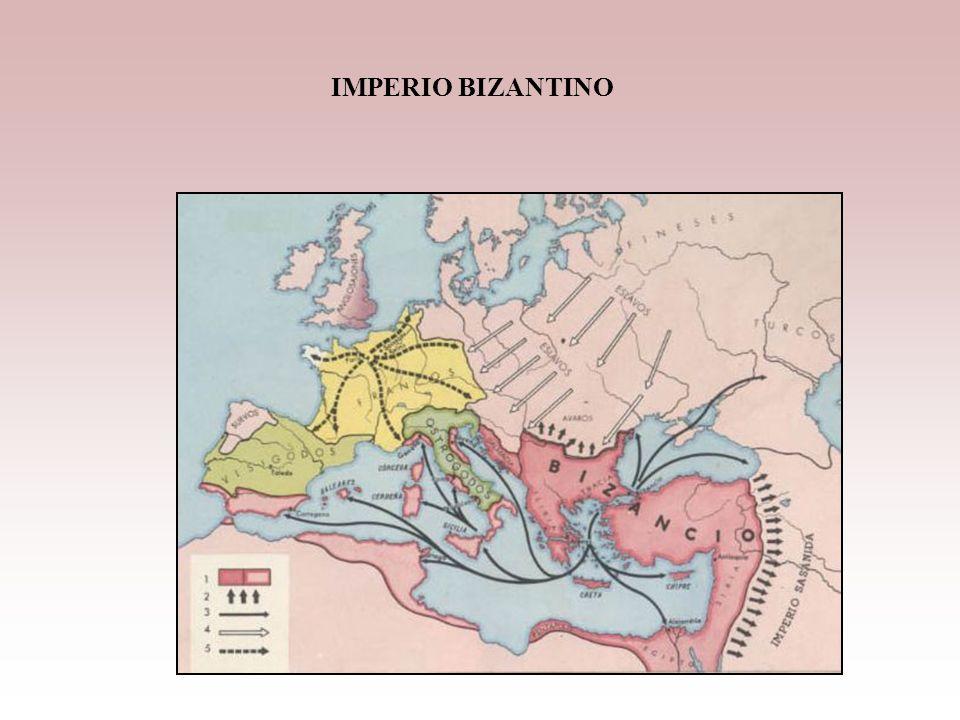 El Imperio Romano de Oriente o Bizantino Características: -Resistió las invasiones germanas y duró toda la Edad media -Su Capital era Constantinopla,