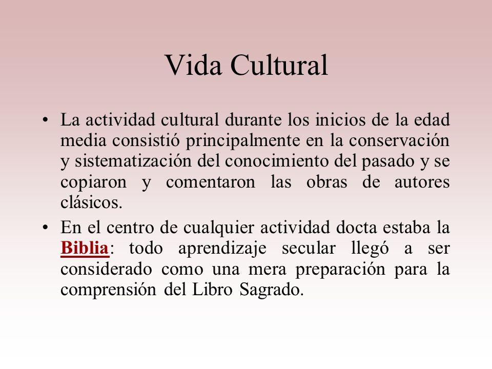 La Iglesia La única institución europea con carácter universal fue la Iglesia Al lado de estas medidas administrativas se conservaba la tradición cult