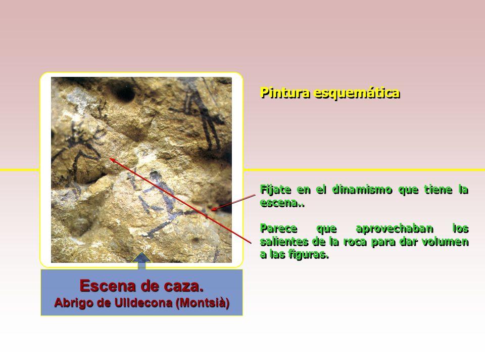 Pintura naturalista Los motivos de las pinturas rupestres suelen estar relacionados con la caza y los medios de subsistencia Ciervo en la cueva de Alt