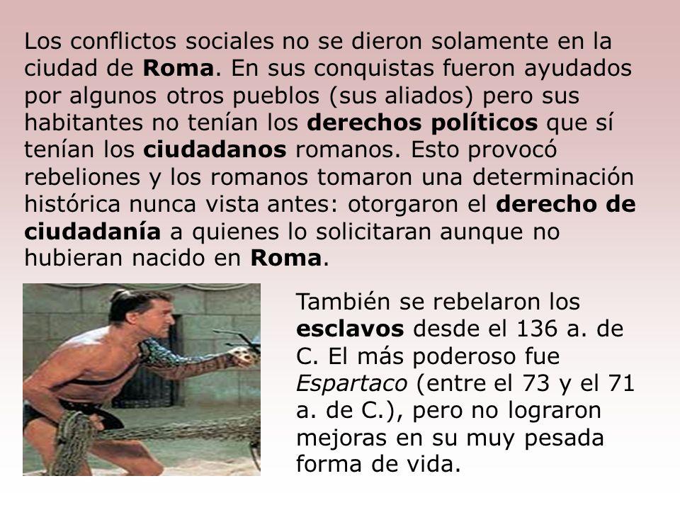 Roma era muy poderosa y rica, pero los beneficios políticos y económicos siempre eran para los patricios. Es así que los plebeyos comenzaron a protest