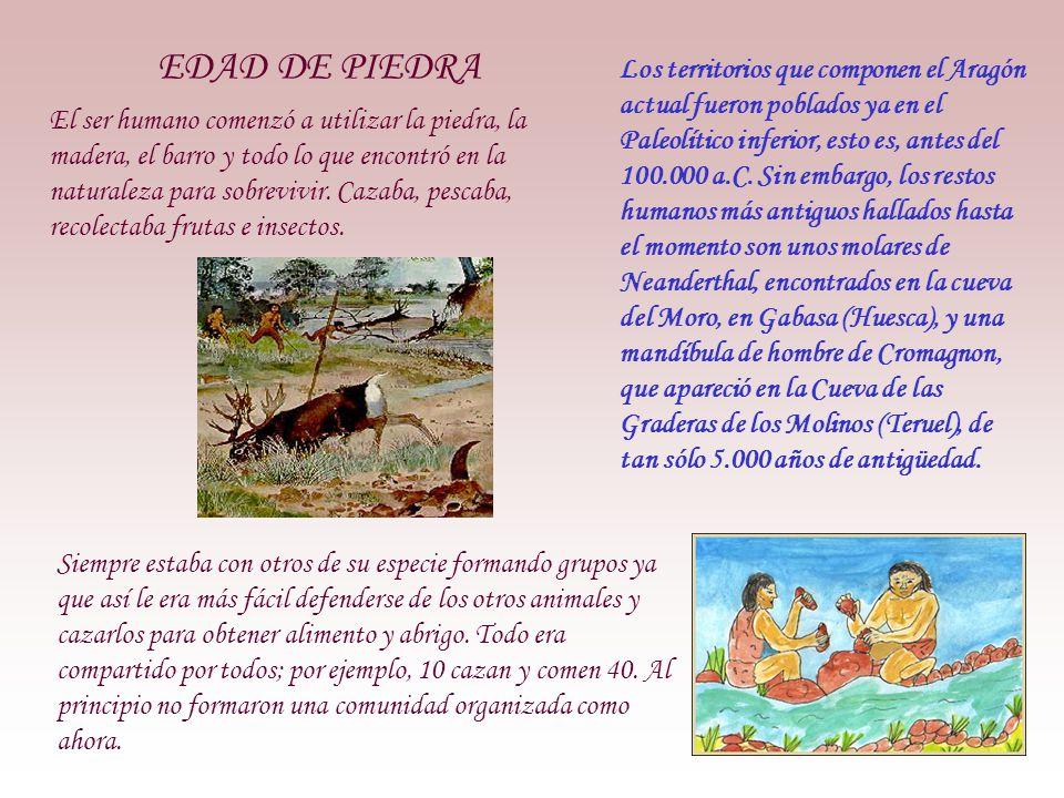 EDAD DE PIEDRA El ser humano comenzó a utilizar la piedra, la madera, el barro y todo lo que encontró en la naturaleza para sobrevivir.