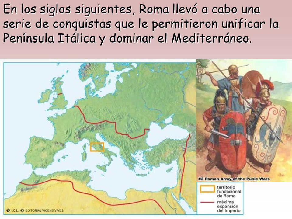 Dos siglos más tarde, h. 509 a.C., los latinos se sublevaron contra la dominación etrusca y expulsaron de Roma a sus reyes. Instauraron una nueva form