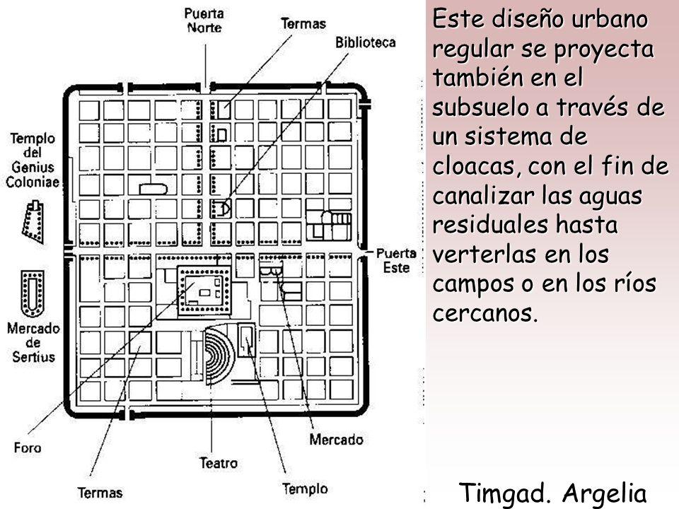 Esquema de Campamento Militar Romano En las ciudades de nueva planta, sin embargo, los romanos adoptan el sistema de cuadrícula que ya se había impues