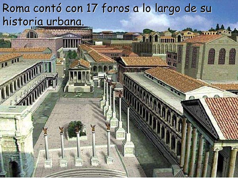 No existe ciudad romana, por insignificante que sea, que no tenga un foro, una espaciosa plaza rectangular, porticada en dos o tres de sus lados, cuya
