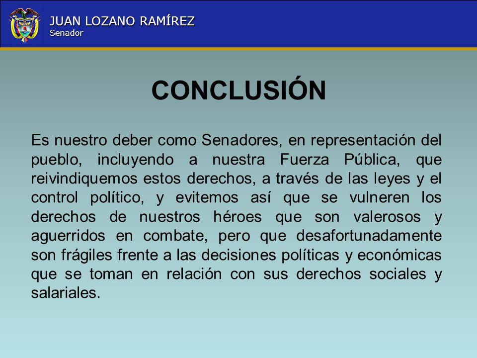 Nombre la Entidad República de Colombia JUAN LOZANO RAMÍREZ Senador Es nuestro deber como Senadores, en representación del pueblo, incluyendo a nuestr