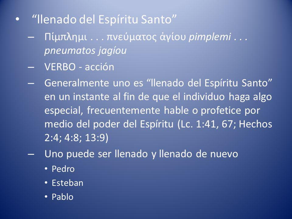 llenado del Espíritu Santo – Πίμπλημι...πνεύματος γίου pimplemi...