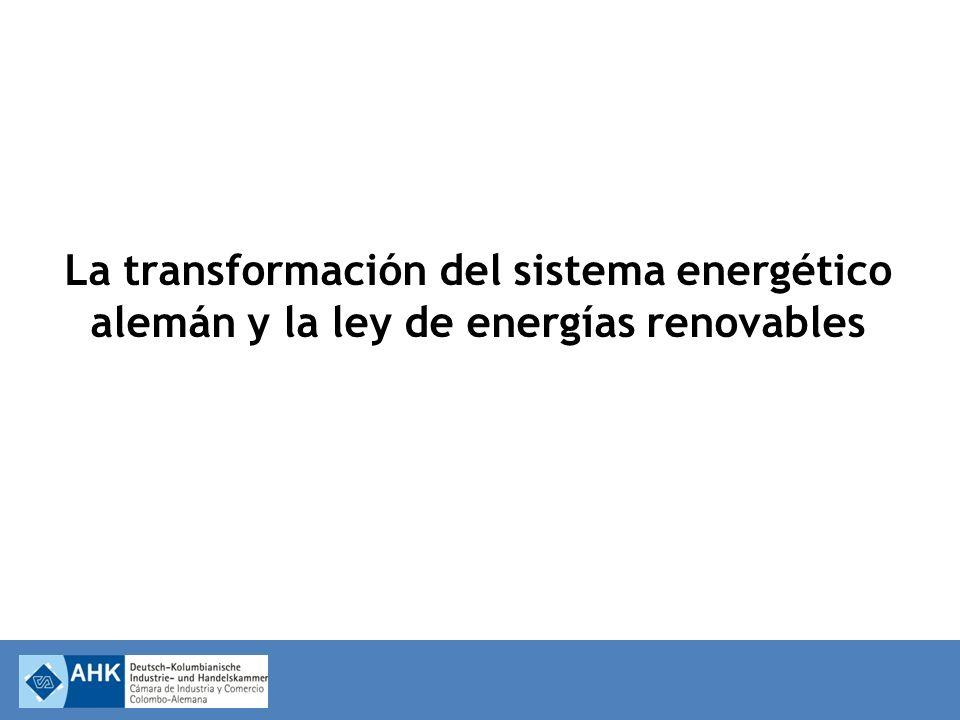 La transformación del sistema energético alemán y la ley de energías renovables