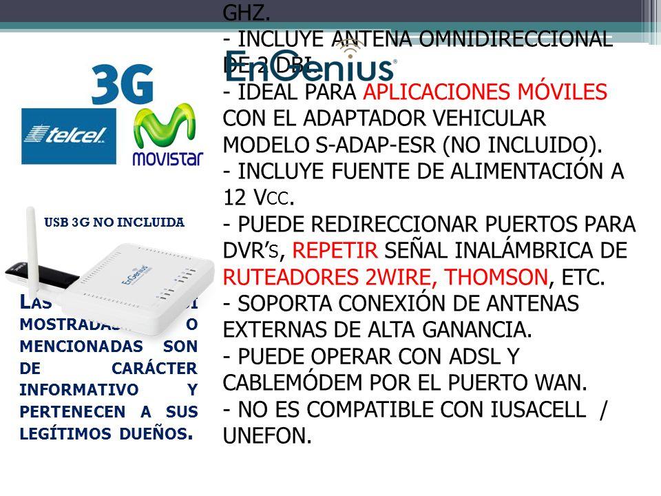 ESR-6650 - RUTEADOR 3G INALÁMBRICO EN 2.4 GHZ.- INCLUYE ANTENA OMNIDIRECCIONAL DE 2 DBI.
