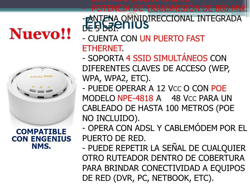 EAP-300 -PUNTO DE ACCESO / REPETIDOR INALÁMBRICO UNIVERSAL EN 2.4 GHZ A 300 MBPS (802.11 B/G/N).