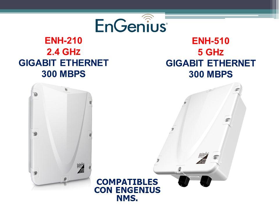 ENH-210 2.4 GH Z GIGABIT ETHERNET 300 MBPS ENH-510 5 GH Z GIGABIT ETHERNET 300 MBPS COMPATIBLES CON ENGENIUS NMS.